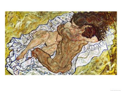 Embrace (Lovers II), 1917 Giclee Print by Egon Schiele