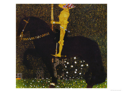 Life is a Struggle or the Golden Knight Giclee Print by Gustav Klimt