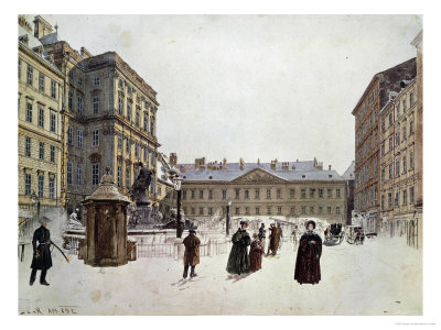 Der Neue Markt, the New Market, Vienna, Watercolour; 1832 Giclee Print by Rudolph von Alt
