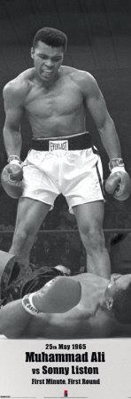 Muhammad Ali vs Sonny Liston Affischer