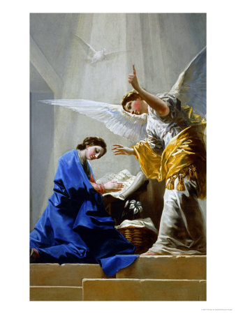 The Annunciation (panel) Lámina giclée