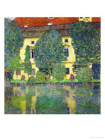 Schloss Kammer Am Attersee III (Wasserschloss), 1910 Giclee Print by Gustav Klimt