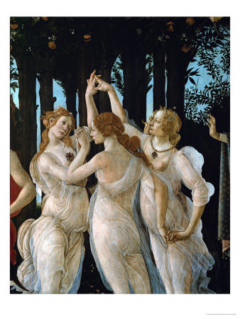 La Primavera, the Three Graces Giclee Print