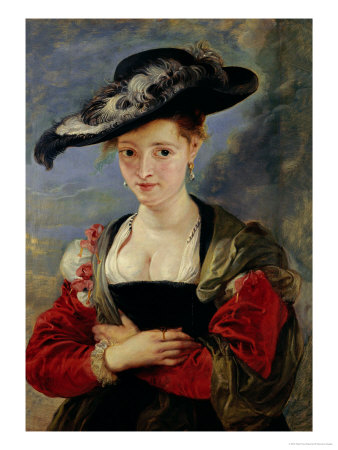 Portrait of Suzanne Fourment (Also Called The Straw Hat) Giclee Print by Peter Paul Rubens