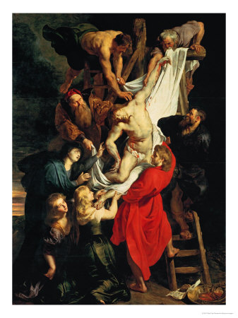 Altar: Descent from the Cross, Central Panel Giclee Print by Peter Paul Rubens