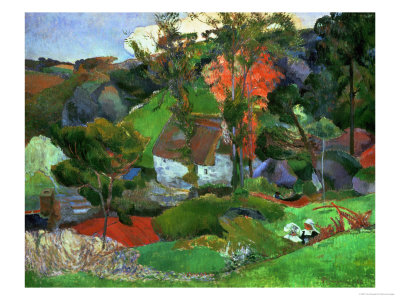 Landscape in Pont-Aven, France Giclee Print by Paul Gauguin