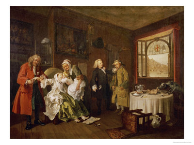 Marriage a La Mode: the Death of the Countess, C. 1742-44 Giclee Print by William Hogarth