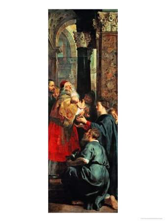 Altar: Descent from Cross, Right Panel: Presentation in the Temple Giclee Print by Peter Paul Rubens