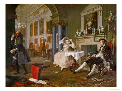 Shortly after the Wedding, from Marriage a La Mode, a Series of Six Satyrical Paintings Giclee Print by William Hogarth