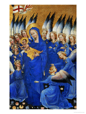 Saint Mary and the Choir of Angels, from the Wilton Diptych Giclee Print