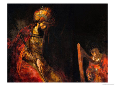 David Playing the Harp Before Saul, 1657 Giclee Print by  Rembrandt van Rijn