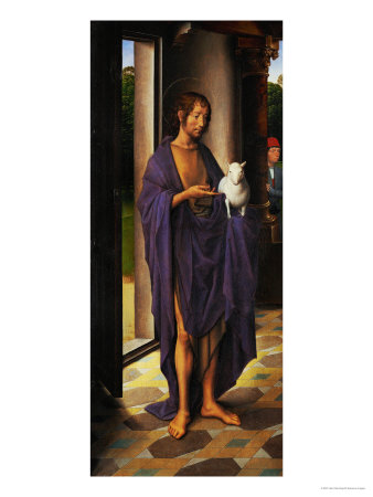 Saint John the Baptist, Detail from the Left Wing of the John Donne Triptych Giclee Print by Hans Memling