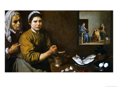 Christ in the House of Martha and Mary, 1629-1630 Giclee Print by Diego Velázquez