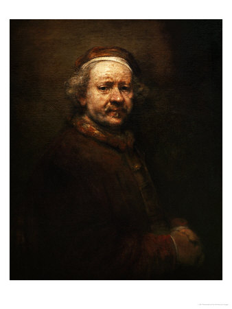 Self Portrait at Old Age, 1669 Giclee Print by  Rembrandt van Rijn