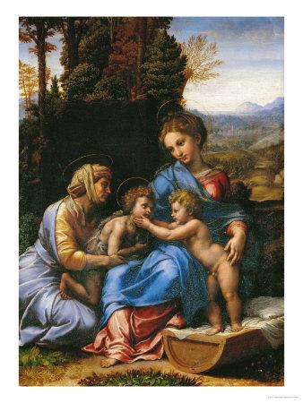 The Holy Family (La Petite Sainte Famille) Giclee Print by  Raphael