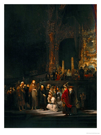 The Woman Taken in Adultery, 1644 Giclee Print by  Rembrandt van Rijn