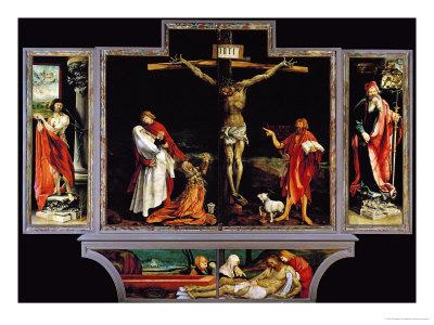 The Isenheim Altar, Closed, circa 1515 Giclee Print by Matthias Grünewald