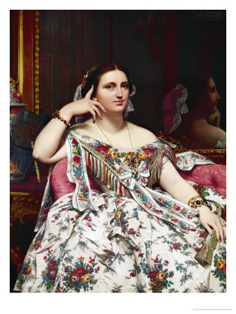 Portrait of Madame Moitessier Giclee Print by Jean-Auguste-Dominique Ingres
