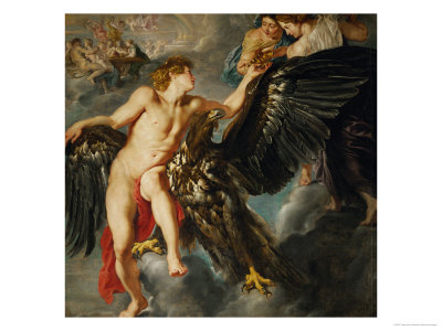 Zeus and Ganymede Giclee Print by Peter Paul Rubens