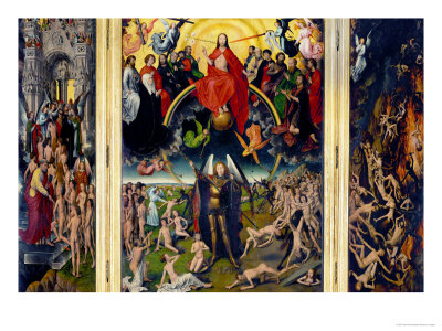 Weighing of the Souls, Triptych of the Last Judgment Giclee Print by Hans Memling