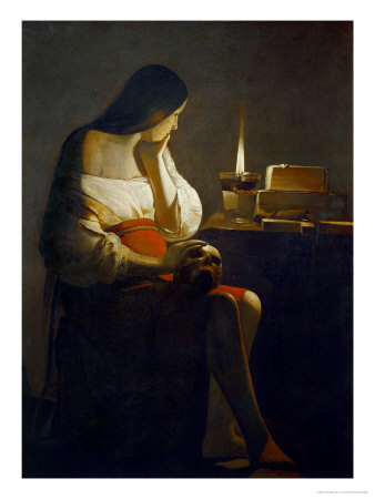 The Magdalene with a Night Light Gicle-Druck