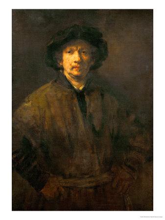 Large Self-Portrait, 1652 Giclee Print by  Rembrandt van Rijn