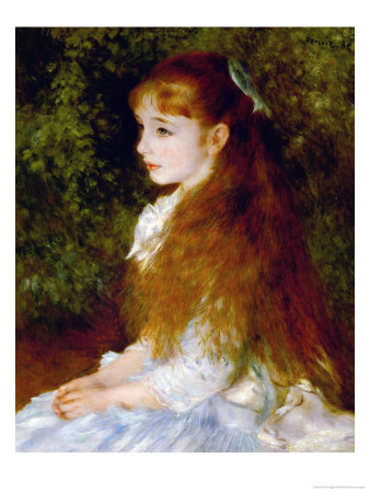 Little Irene, Portrait of the 8 Year-Old Daughter of the Banker Cahen D'Anvers, 1880 Giclee Print by Pierre-Auguste Renoir