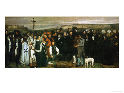 Funeral at Ornans, France, 1849 Giclee Print by Gustave Courbet