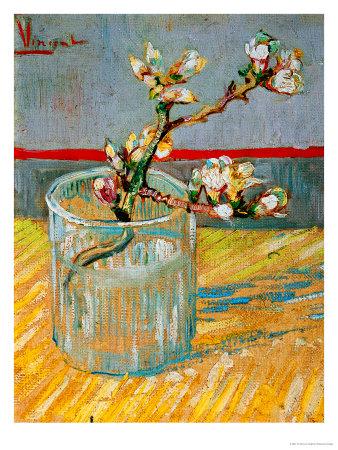 Blossoming Almond Branch in a Glass, c.1888 Giclée-Druck von Vincent van Gogh