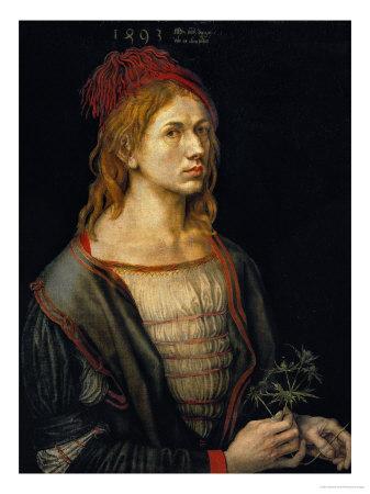 Self-Portrait, 1493 Giclee Print by Albrecht Dürer