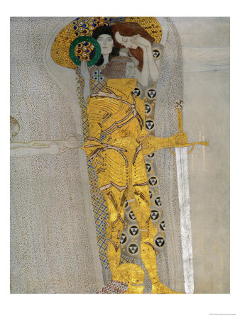 Beethoven Frieze Inspired by Beethoven's 9th Symphony Giclee Print by Gustav Klimt