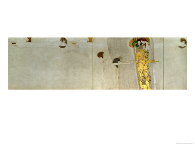 Detail from the Beethoven Frieze, 1902 Giclee Print by Gustav Klimt