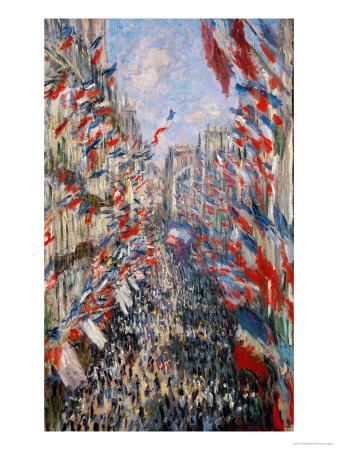 La Rue Montorgeuil, Paris, During the Celebrations of June 30, 1878 Giclee Print by Claude Monet
