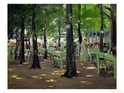 De Oude Vinck, Garden Restaurant in the Outskirts of Leiden, Netherlands, 1905 Giclee Print by Max Liebermann