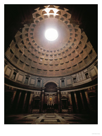 The Pantheon in Rome, Erected in 17 BCE by the Roman General Marcus Agrippa (64BCE-12 CE) Giclee Print