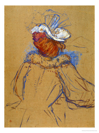 Red Haired Woman Seen from Behind, 1891 Giclee Print by Henri de Toulouse-Lautrec