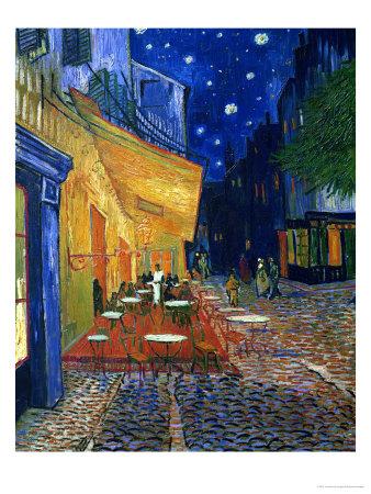 Terasa kavárny v noci, Place du Forum, Arles, vnoci, c.1888 Digitálně vytištěná reprodukce