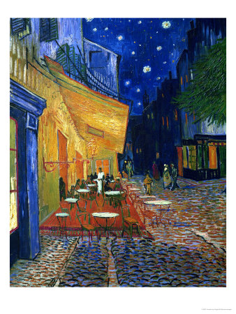 The Café Terrace on the Place du Forum, Arles, at Night, c.1888 Giclee Print