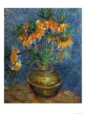 Crown Imperial Fritillaries in a Copper Vase, c.1886 Giclee Print by Vincent van Gogh