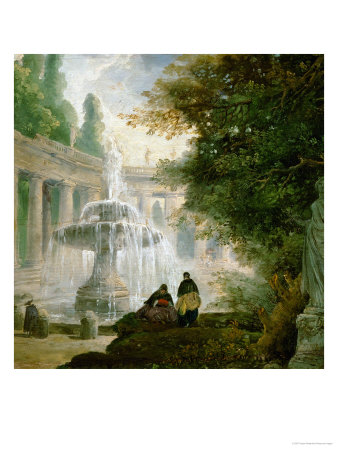 Park with Fountain, 1762-1765 Giclee Print by Hubert Robert