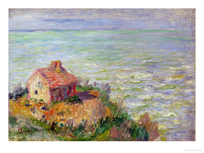 The Shack of the Customs Officials, Afternoon; 1882 Giclee Print by Claude Monet