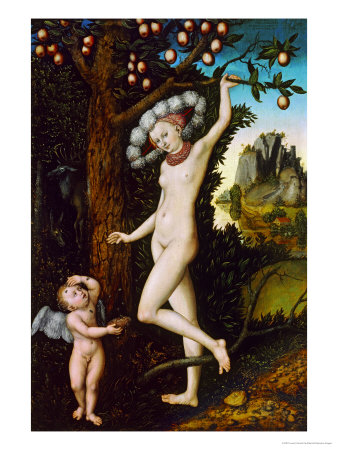 Cupid Complaining to Venus, Around 1525 Giclee Print by Lucas Cranach the Elder
