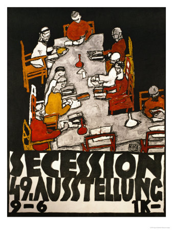 Sezessionsplakat 1918, Poster for the 49th Secession Exhibition by the Neukunstgruppe, Austria Giclee Print by Egon Schiele