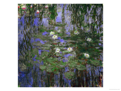 Blue Waterlilies, 1916-1919 Giclee Print by Claude Monet