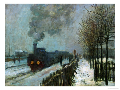 Train in the Snow, 1875 Giclee Print by Claude Monet