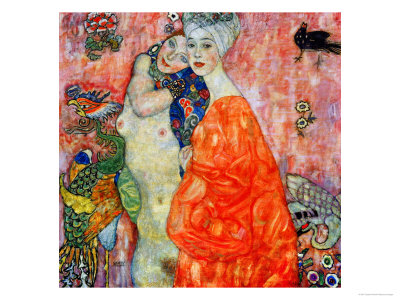 Girlfriends, 1916-1917 Giclee Print by Gustav Klimt