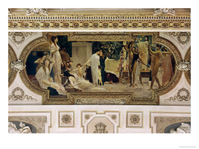 A Greek Travelling Theatre (Il Carro Di Thespis), Ceiling Fresco, 1884-1887 Giclée-Druck