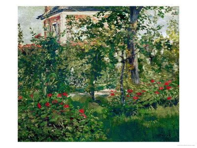 The Bellevue Garden, 1880 reproduction procédé giclée