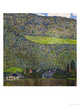 Unterach on Lake Attersee, Austria, 1915 Giclee Print by Gustav Klimt