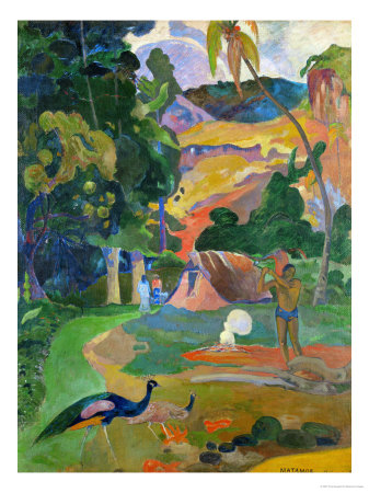 Matamoe (Peacocks in the Country), 1892 Giclee Print by Paul Gauguin